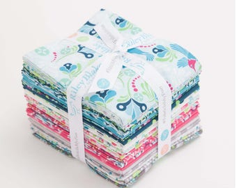 Flit and Bloom Fat Quarter Bundle designed by Patty Young for Riley Blake - 21 fat quarters