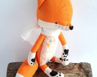 ESTI de Vos. Made-to-order. cadeau voor kinderen. Eco speelgoed. gevulde fox. Toy fox. kamer decoratieve fox Kids.