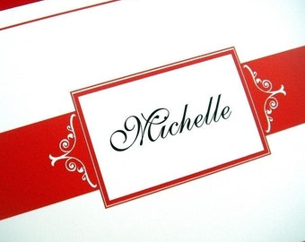 Personalized Folded Note Cards - Set of 25
