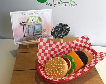 Build your own Burger Cookies Personalized Cookies Summer Cookies BBQ Cookies Birthday Cookies