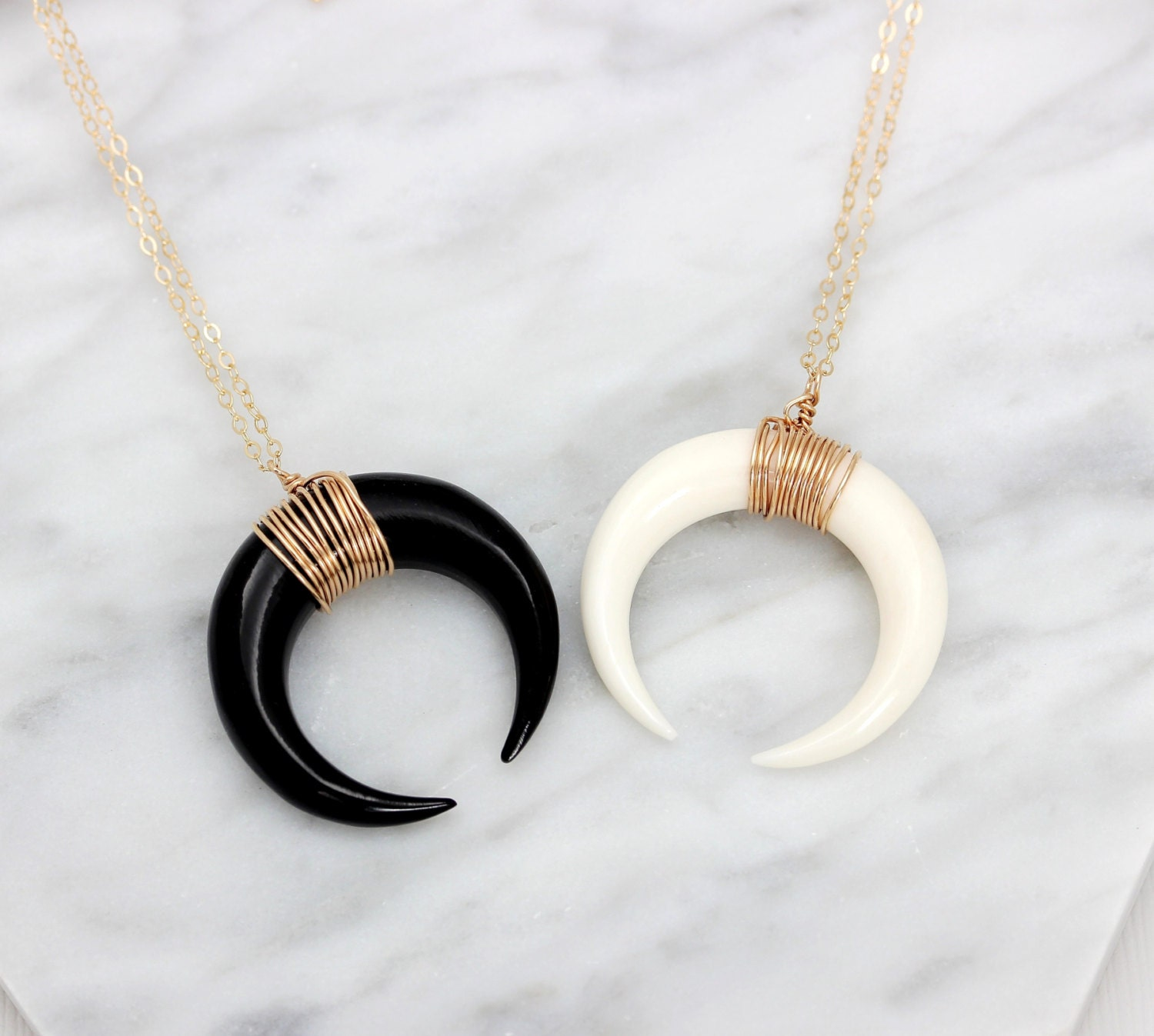 jonesy crescent img wood products necklace moon