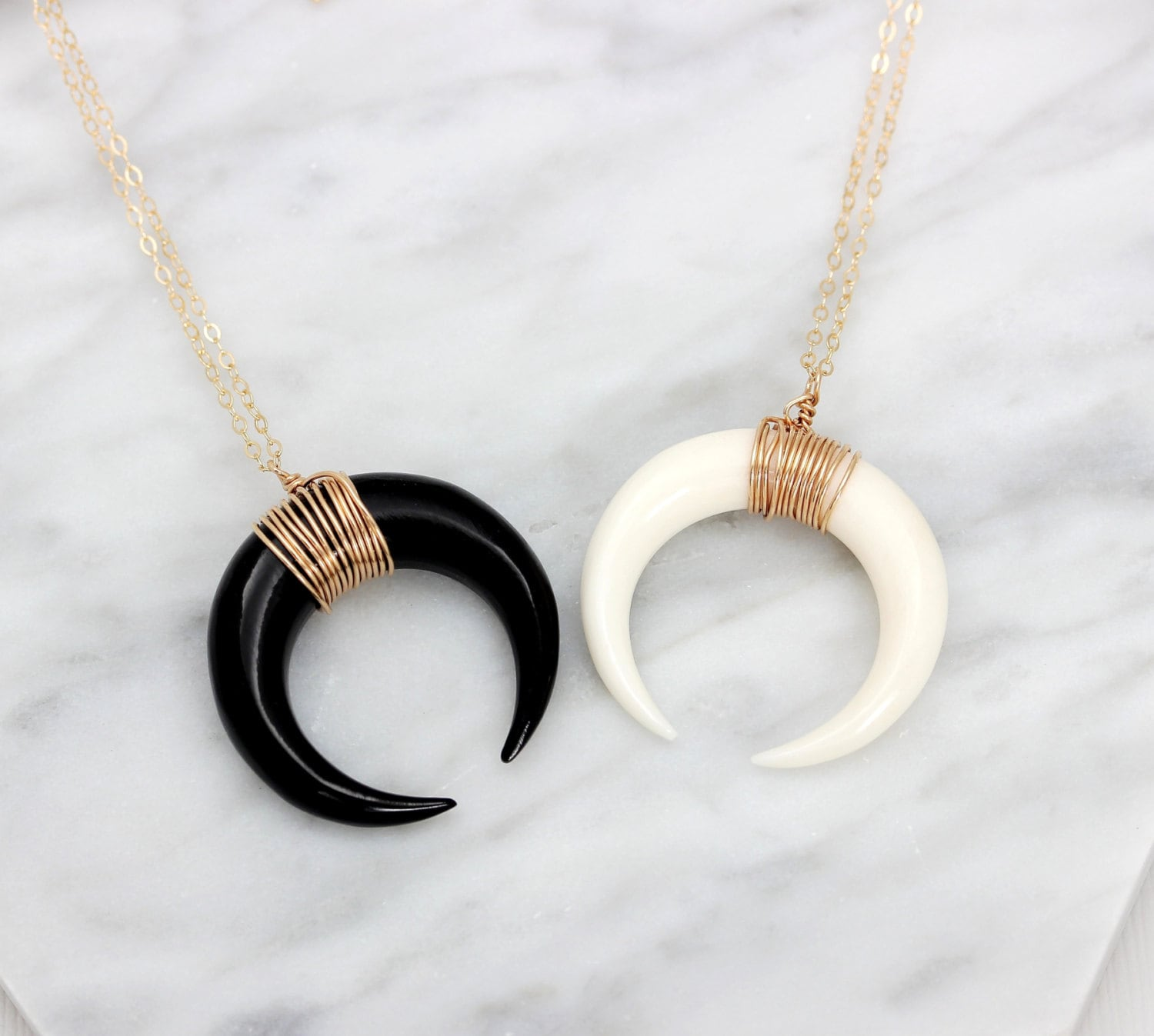 necklace elephant pendant tusk bone cow necklaces