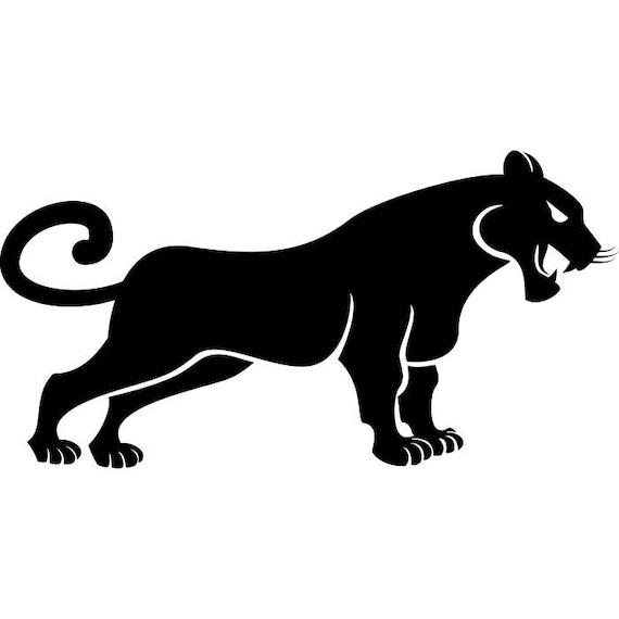 black panther 2 wild cat spots wildlife mascot logo svg eps png rh etsystudio com Black Panther Marvel Logo Black Panther Logo