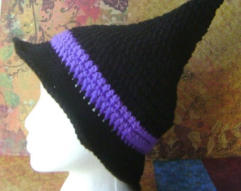 PDF Crochet Pattern, Witch Hat for Costume or Just to Keep Warm