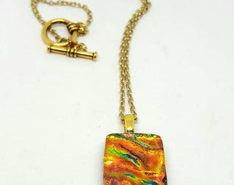 Dichroic Fused Glass Necklace - Dichroic Necklace - Fused Glass Necklace - Dichroic Jewelry - Gifts for Her