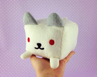 SALE | Frosty Neko Atsume Plush | Cute White Cat Plushie | Neko Atsume Loaf Plush