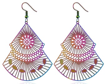Computer Tablet Multicolor Earrings