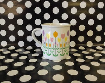 Tea Time Tulips~Tulip Coffee Cup~Mug~Current~Vintage~1986~Springtime~Easter