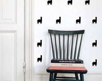 Llama Wall Decals/ Nursery Art Llama/ Llama Vinyl Decals/ Llama Decor/ Nursery Wall Decor/ Baby Wall Decal/ Murals/ Decal/ FREE SHIPPING