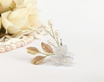 Wedding Hair Pin Pearl Hair Pins Wedding Hair Accessories Bridal Hair Pin Flower Girl Hair Piece Wedding Hair Pins Gold Hair Pin Wedding