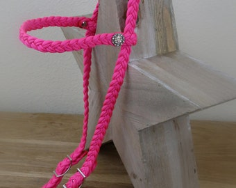 6 Strand Braid Bridle with Crystal Roped Berry Conchos