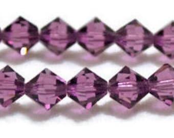 Swarovski Crystal Bicones 6mm -Amethyst- Article 5301