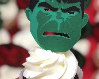 Hulk Cupcake Toppers