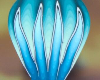 Blue-Green Polymer Clay Petal Cane (27ee)