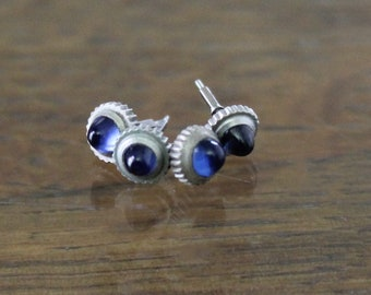 Antique Sapphire Watch Crowns with pins from c.1920 - 1930 watches