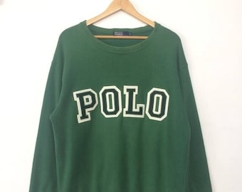20% OFF Vintage POLO RALPH Lauren Big Logo Spell Out Green Colour Size Large