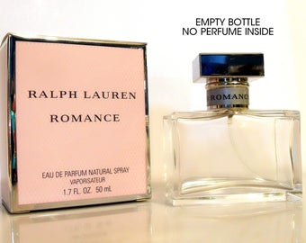 Vintage Perfume 1990s Romance by Ralph Lauren 1.7 oz Eau de Parfum Spray Box EMPTY Bottle