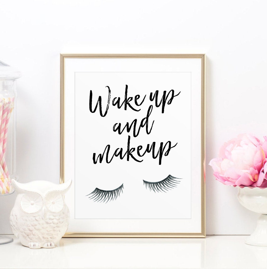 Wake Up To A Fresh Bedroom Style: Vanity Decor Wake Up And Makeup Glamour Quote Glamour