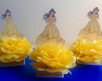 beauty and the beast decorations, beauty and the beast centerpieces, Belle centerpiece, beauty and the beast party, birthday party decor