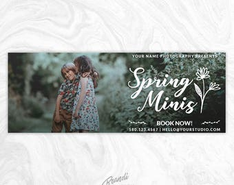 Facebook Timeline Cover PSD Template - Photography Facebook Cover - Facebook Cover Photo - Facebook Banner - Spring Minis, Gallery - FB5