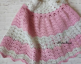 Crochet skirt Girls skirt Summer skirt Hand crochet skirt Pink skirt Family look Mum and daughter Cotton skirt Girls clothing Toddlers skirt