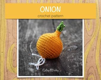 ONION Crochet Pattern PDF - Crochet onion pattern Amigurumi onion pattern Crochet vegetables patterns Amigurumi food pattern Play Food Onion