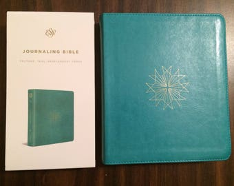 PERSONALIZED ** ESV Journaling Bible - Teal TruTone ** Custom Imprinted