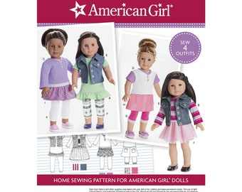 """Simplicity Pattern 8041 American Girl Doll Clothes for 18"""" Doll"""