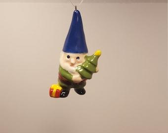 Gnome Christmas Ornament Vintage
