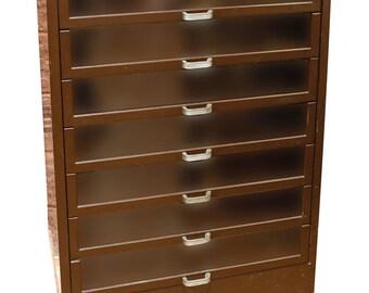 Nunu0027s Nomotta Metal Storage Cabinet On Base W/iron Feet, Mfgd By T.