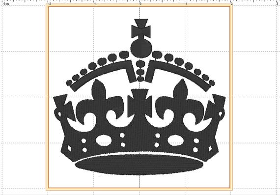 Keep Calm British Royal Crown Embroidery Design Downloadfilled