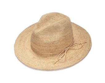 Wide brim  fedora straw hat , Mens straw fedora hat , Straw hat for women , Women summer hats , Sun hat , Beach hat, Boho chic hat , raffia
