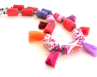 Fun fashion tassel necklace, tassel necklace, fun tassel necklace,  fashion tassel necklace, fun trendy tassel necklace