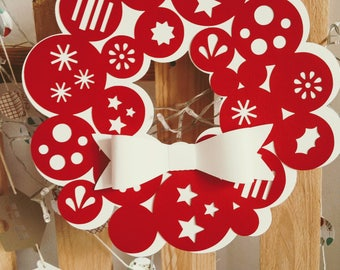 Christmas garland of paper with balls
