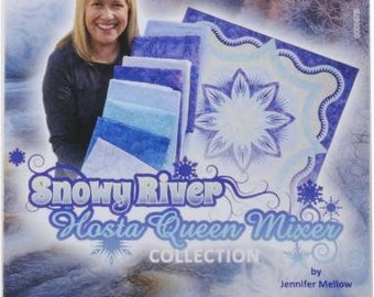 Snowy River Hosta Queen Mixer Collection by Jennifer Mellow 50wt 10 Small Spools