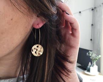Alice gold or silver hoop earrings