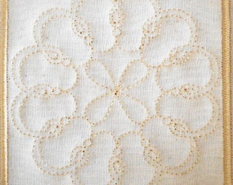 Trapunto Quilt Block Machine Embroidery Design- block07