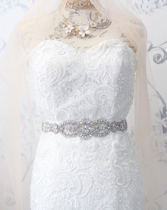 Jahrgang Kristall Hochzeit Schärpe Perlen Braut Gürtel