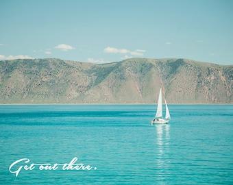 Get Out There -Bear Lake Utah postcard