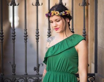 Flower headpiece flower crown head wreath headband fairy wreath hair flowers wedding wreath bridal hair accessories
