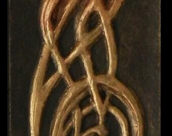 Wizard Knot - Cast Paper - Fantasy art - Merlin's Vision - Celtic Wizard - Irish art - magician - hermit - mystic