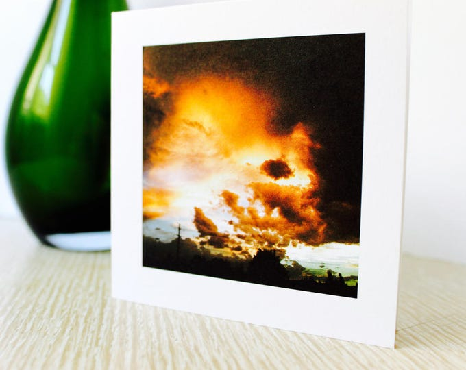 "Friendship/Any Occasion Greeting Card ""Sunset Over the City"""