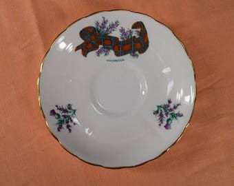 MacGregor saucer, Tuscan Fine English Bone China, Made in England