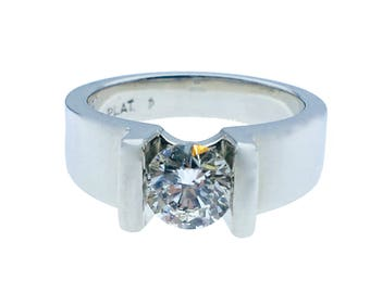 Platinum Diamond Ring (GIA Certified)