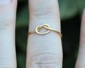 Nautical Knot Gold Wire Knuckle Ring