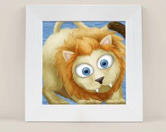 Lion Print, Cute Animal Print, PRINTABLE ART, Kids Decor, Kids Wall Art, Kids room, Kids Decor, Nursery Decor, Baby Animals, Nursery Art