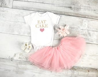 Eat cake, Birthday baby onesie, newborn, baby girls, 6 Month, 12 Month, 18 Month, graphic kids shirt, baby girl clothing, eat cake onesie