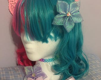 Sax Blue Ocean Star Kanzashi Fairy Kei mermaid