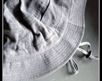 Baby-bandage hat grey hat with brim sun protection Fisherman's Hat Cap 1990-ER years vintage
