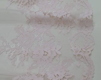 Light pink lace Trim, French Lace, Chantilly Lace, Bridal lace, Wedding Lace, Garter lace, Evening dress lace, Lingerie Lace, LL86002_1